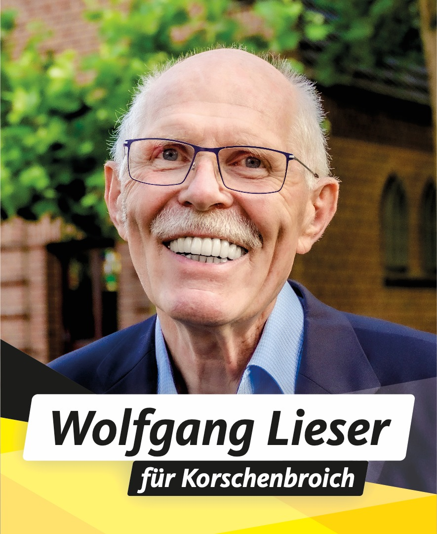 Für Sie im Stadtrat Wolfgang Lieser
