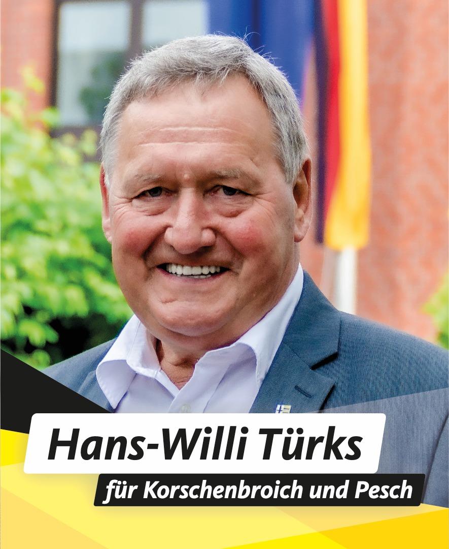 Für Sie im Stadtrat Hans Willi Türks